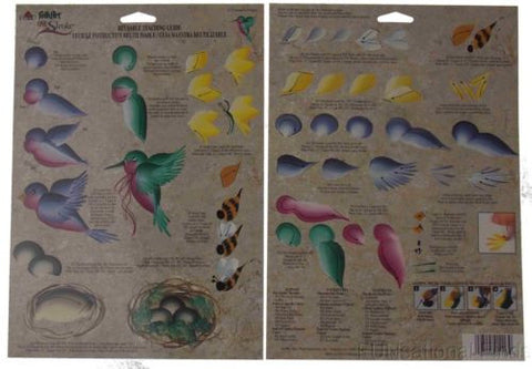 Lot 36 FolkArt One Stroke Reusable Paint Teaching Guide Natures Critters 1113 - FUNsational Finds - 1