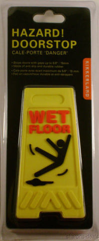 Lot of 2 Yellow Wet Floor Doorstop Wedge Rubber Anti Slip Hazard Danger - FUNsational Finds
