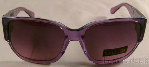 Nicole Miller Signature Eyewear Sunglasses Linear Lovespell Round Purple Pouch - FUNsational Finds - 1