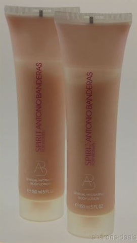Lot 2 Spirit Antonio Banderas Sensual Hydrating Body Lotion Women 5 oz Spain NEW - FUNsational Finds - 1