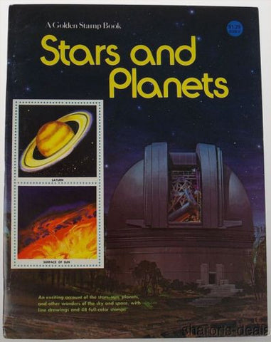 Golden Stamp Book Stars Planets 14th 1982 Stickers Vintage Sun Space Sky Drawing - FUNsational Finds - 1