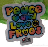 Peace and Love Frog Whatevs Green Spots Hanging Soft Plush Embroidered - FUNsational Finds - 5