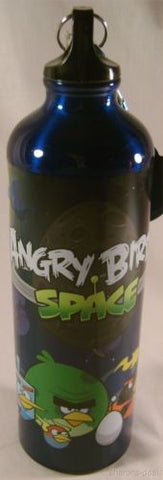 "Angry Birds Space 28 Oz Aluminum Water Bottle Blue Carabiner Backpack Loop 10"" - FUNsational Finds - 1"