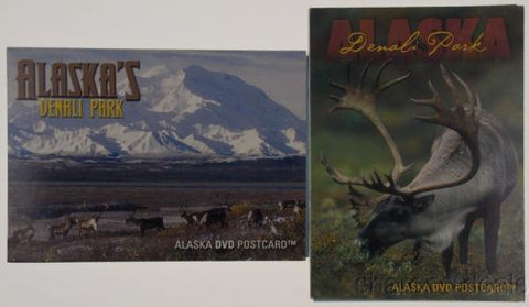 Alaska DVD Postcard Lot 2 Denali National Park Travel Caribou McKinley Wildlife - FUNsational Finds - 1