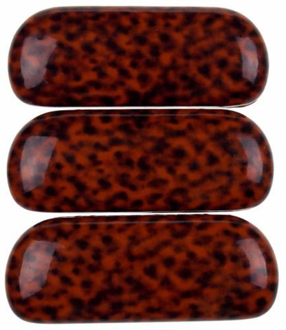 Lot 3 Tiger Print Hard Case Eye Sunglasses Reading Box Padded Lined Brown Orange - FUNsational Finds - 1