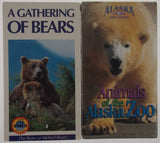 VHS VCR Tapes Lot 2 A Gathering Of Bears Voices From The Ice Alaska Travel NEW - FUNsational Finds - 1