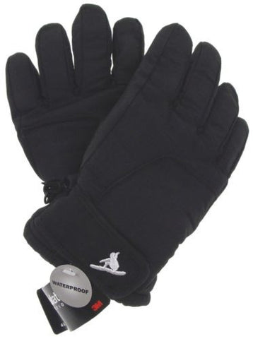 Joe Boxer Boys Black Ski Gloves 3M Thinsulate Insulation Snow Winter Warm Lined - FUNsational Finds - 1