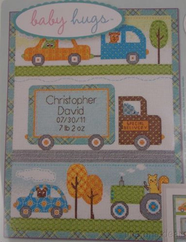 Dimensions Counted Cross Stitch Happi Transport Birth Record Dena Designs Kit - FUNsational Finds - 1