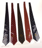 Lot 5 Olimpo 100% Silk Neckties Ancient Sailboat Dragon Classic Dress Business - FUNsational Finds - 2