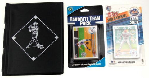 NY New York Mets Baseball Card Collecting Starter Kit 2011 Book Album Topps C&I - FUNsational Finds - 1