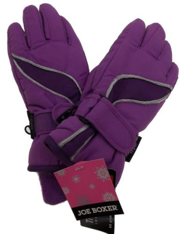 Purple Joe Boxer Girls Gloves 3M Thinsulate Insulation Waterproof Snow Winter - FUNsational Finds - 1
