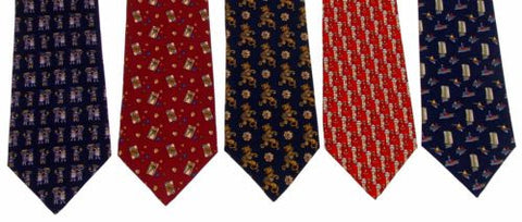 Lot 5 Olimpo 100% Silk Neckties Ancient Sailboat Dragon Classic Dress Business - FUNsational Finds - 1