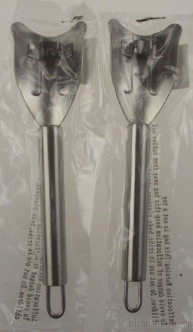 "Set 2 Corn on Cob Stainless Steel SS Metal Zipper Cutter Stripper Utensil 7 1/2"" - FUNsational Finds - 1"