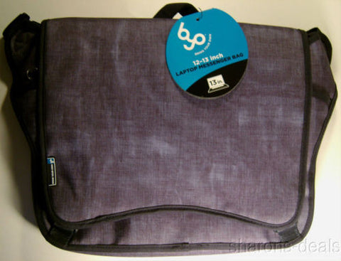 "BYO 12-13"" Neoprene Laptop Messenger Bag Bell Bottom Blue Compartments Padded - FUNsational Finds - 1"
