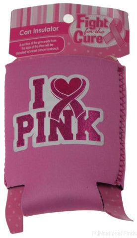 Lot of 14 Breast Cancer Fight For The Cure Can Insulator Cooler I Love Pink - FUNsational Finds - 1