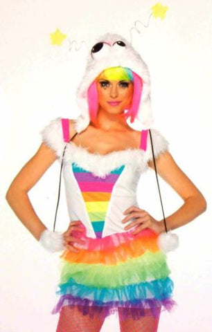 Womens Leg Avenue Starbrite Monster S-M Sexy Halloween Costume Cosplay Dress Hat - FUNsational Finds - 1
