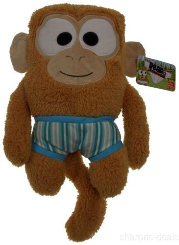 "Gund Bear In Underwear Friends Monkey Light Brown Plush Friends 11"" Undies NEW - FUNsational Finds - 1"