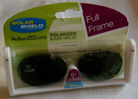 Lot 2 Solar Shield Sunglasses 51 Oval Polarized Gray Adjustable Stretch UVA UVB - FUNsational Finds - 1