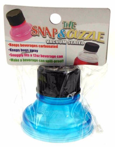 Lot 9 Blue Snap & Guzzle Vacuum Sealed Beverage Can Top Carbonated Spill Proof - FUNsational Finds - 1