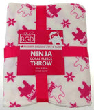 "Studio BGD Ninja Coral Fleece Plush Throw Blanket Cover Atomic Pink White 50x60"" - FUNsational Finds - 1"