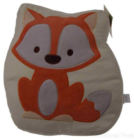 Studio BGD Fox Decorative Pillow Tan Cream Orange 14in Bedroom Throw Stuffed NEW - FUNsational Finds - 1
