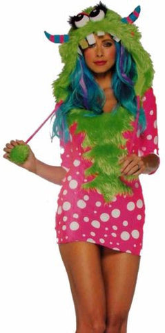 Womens Leg Avenue Melody Monster XS Sexy Halloween Costume Cosplay Dress Hood - FUNsational Finds - 1