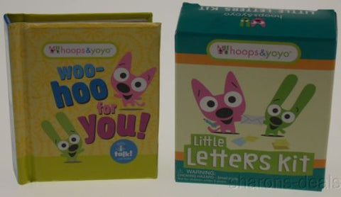 Hoops Yoyo Set 2 Woo Hoo You Little Letters Kit Mega Mini Kits Stickers Sounds - FUNsational Finds - 1