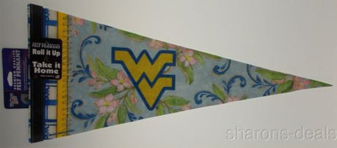 NCAA West Virginia Mountaineers Premium Quality Pennant Flag 12x30 Kate McRostie - FUNsational Finds - 1