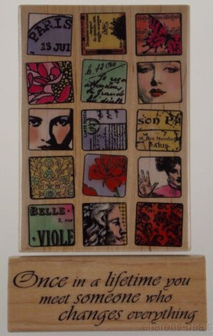 Hampton Art Paris Moments Diffusion Meyer Once Lifetime Wood Rubber Stamp Lot 2 - FUNsational Finds - 1