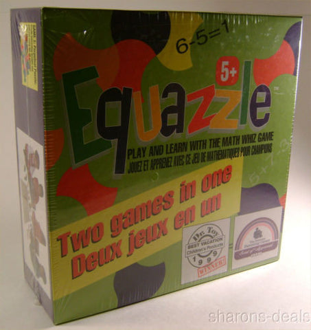 Equazzle Math Whiz Board Game 2 in 1 2-4 Player Perpetual Puzzle Educational - FUNsational Finds