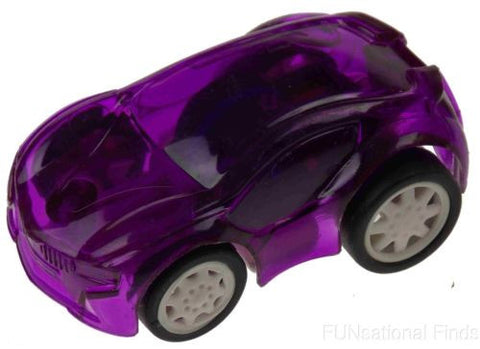 Lot 8 Small Purple Plastic Pull Back Cars Cake Toppers Party Gift Bag Favors NEW - FUNsational Finds - 1