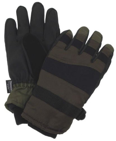 Athletech Mens Brown Black Green Gloves 3M Thinsulate Waterproof M L Ski Winter - FUNsational Finds - 1