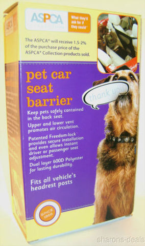 NEW ASPCA Pet Car SUV Seat Barrier 600 D Vented Durable Auto Keep Pet Backseat - FUNsational Finds