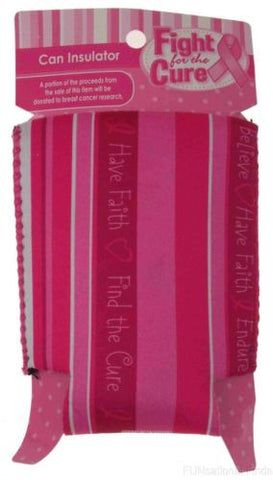Lot of 16 Faith Breast Cancer Fight For The Cure Can Insulator Cooler Koozie - FUNsational Finds - 1