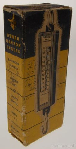 Vintage Hanson Viking Scale 895 Chicago USA 50 LB Capacity Original Box Antique - FUNsational Finds - 1