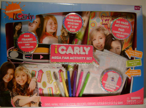 iCarly Mega Fan Activity Set Poster Pad Frame Iron Ons Stickers Glitter Markers - FUNsational Finds - 1