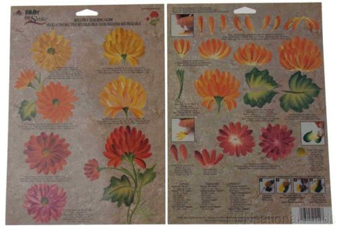 Lot 35 FolkArt One Stroke Reusable Painting Teaching Guide Chrysanthemum 1149 - FUNsational Finds - 1