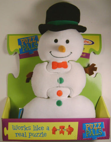 "Snowman Puzz Pals 3 Piece Soft Puzzle Activity Toy Mary Meyer Puzzpals Plush 11"" - FUNsational Finds"