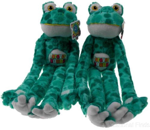 Lot 2 Peace and Love Frogs Forever Young Hanging Soft Plush Embroidered - FUNsational Finds - 1