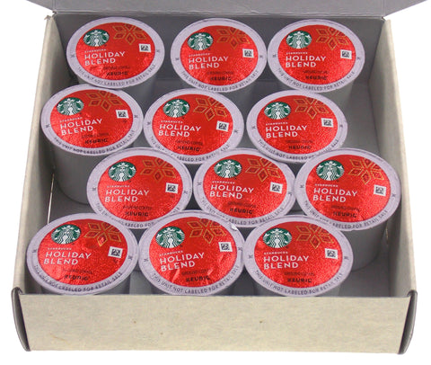 Coffee Lovers Gift Box Starbucks Holiday Blend 12 K Cups Set Gift for Him or Her