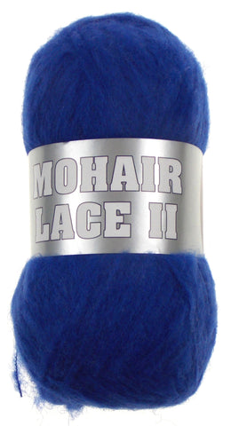 Filati Europa Mohair Lace II Yarn Lot 4 Skein 12-22 480yd Royal Blue Wool Turkey