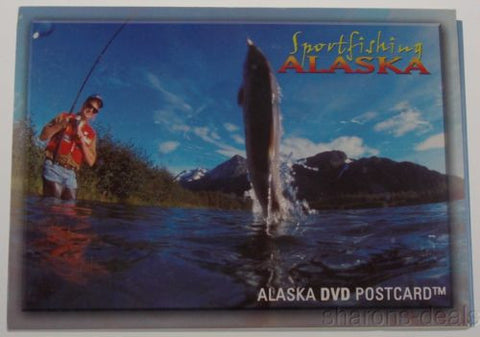 Alaska DVD Postcard Sport Fishing Travel Fisherman King Salmon Halibut Trout NEW - FUNsational Finds - 1