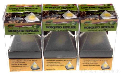 Lot 3 PIC Mosquito Biting Insects Repeller Pyramid Citroneella Plus Deet Free - FUNsational Finds - 1
