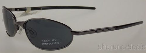 Arizona Jean Company Oval Sunglasses Black Gray 100% UV Protection 57-19-135 NEW - FUNsational Finds - 1