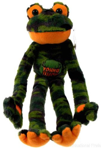 Peace and Love Frog Young Buck Green Camo Soft Plush Hanging Embroidered - FUNsational Finds