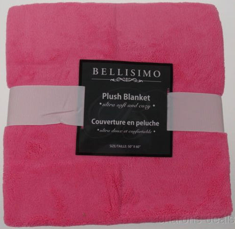 Bellisimo Luxurious Plush Blanket Pink 50x60 Soft Cozy Thick Warm Polyester NEW - FUNsational Finds - 1