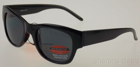 Sol Classic Sunglasses 100% UV Protection Black Plastic 51-23-140 Shatter Resist - FUNsational Finds - 1