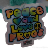 Lot 2 Peace and Love Frogs Forever Young Hanging Soft Plush Embroidered - FUNsational Finds - 4