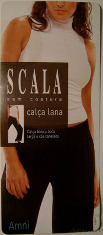 SCALA White Calca Lana Pants Wide Leg Casual Yoga Lounge Exercise Seamless - FUNsational Finds - 1
