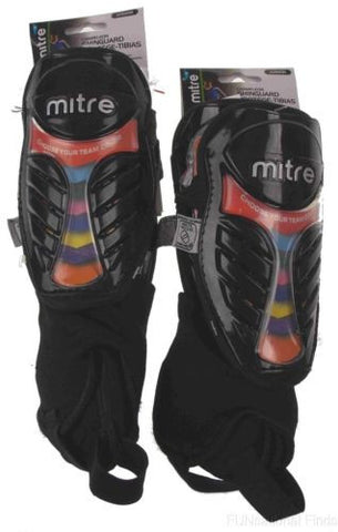 Lot 2 Junior Mitre Soccer Shin Guards Chameleon Protection Color Inserts Bottle - FUNsational Finds - 1